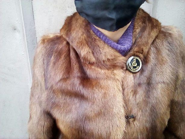 Натур.норковая шубка с капюшоном рр46-48-50