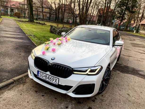 BMW 5 G30 BMW 3 G20 NA WESELE auto wynajem samochód do ślubu