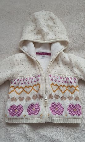 Ciepły sweterek/bluza r.80/86