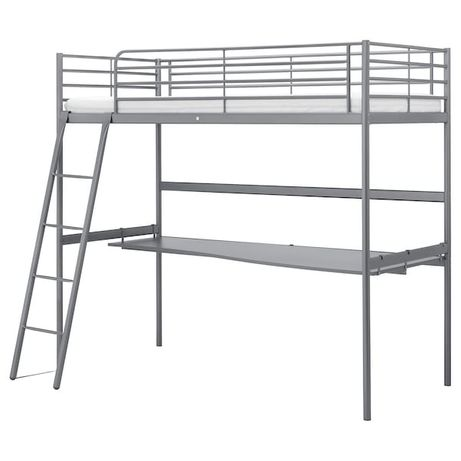 Łóżko SVARTA Ikea antresola