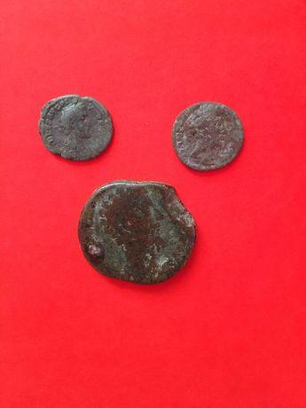 Три монети Римські. Дуже старовинні.