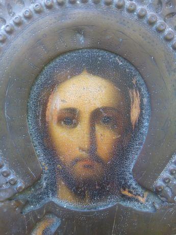 Старинная греческая икона ГОСПОДЬ ВСЕДЕРЖИТЕЛЬ ХVIII-XIX век