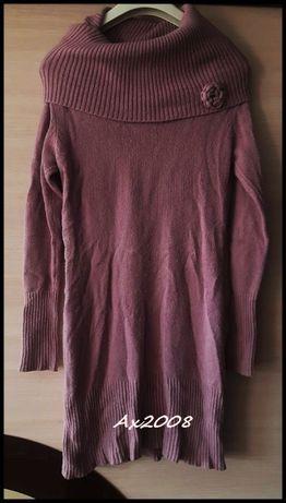 Długi sweter - sukienka M/L