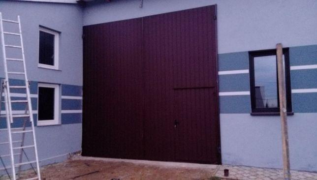 bramy garażowe przemysłowe hale drzwi stalowe metalowe wrota wierzeje
