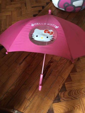 Chapéu de chuva infantil Hello Kitty. Novo.
