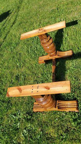 Toczone nogi ławy dębowe