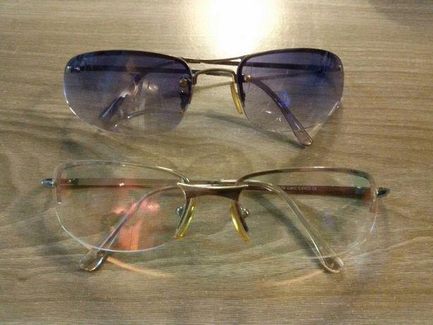 Okulary damskie zerówki i drugie lekko niebieskie gratis