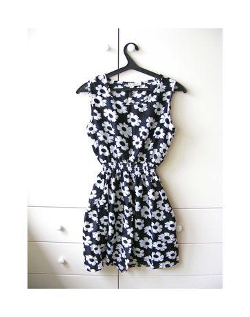 Летнее легкое платье в цветы шифон XL бренда Drunken Tango 50 р