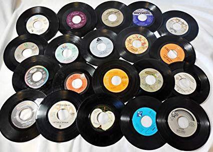 50 Discos de vinil para decoração