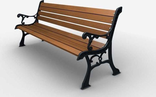 Ławka żeliwna ogrodowa, parkowa na taras id.0111