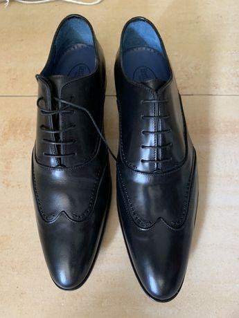 Buty meskie nowe ręcznie szyte Brett & Sons czarne r 44