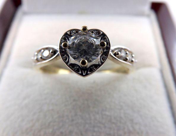 Cudowny złoty pierścionek 2,77 24R