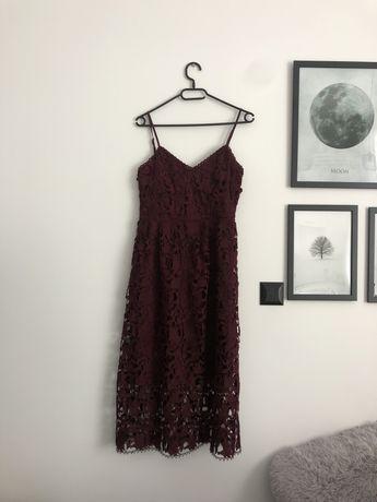 Bordowa sukienka Reserved