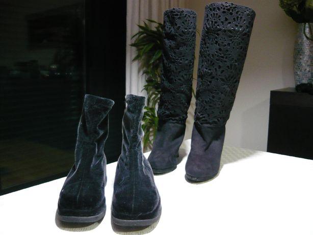 Conjunto de 2 pares de botas de senhora - Usadas