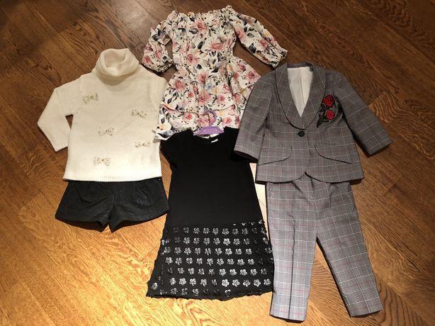 Paka ubrań dla dziewczynki 3-4 latka