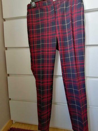 Spodnie w kratę Zara