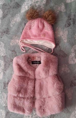 Дитяча жилетка і шапка