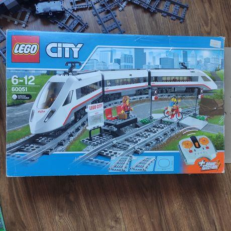 Конструктор LEGO City Железная дорога Скоростной пассажирский поезд