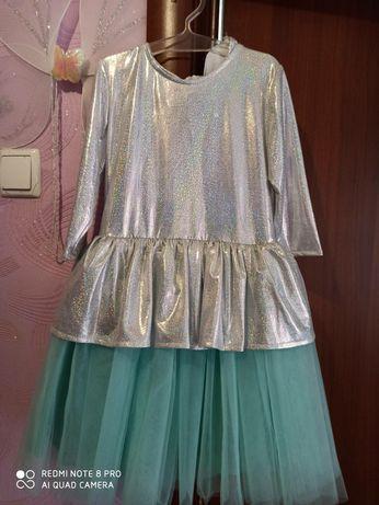 Платье нарядное М/Ф Холодное Сердце, Эльза.