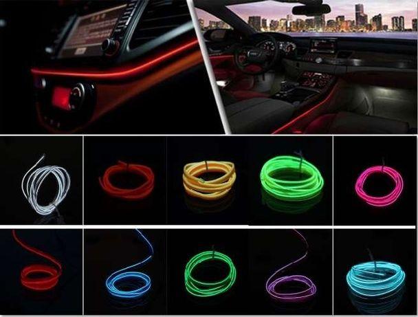 Fitas Neon EL-Wire 12V - Car Decor Interior Fluorescent