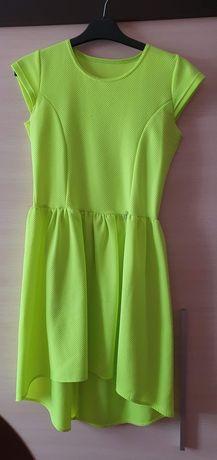 Żółta jaskrawa sukienka