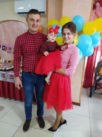 Family look платье мама-дочка