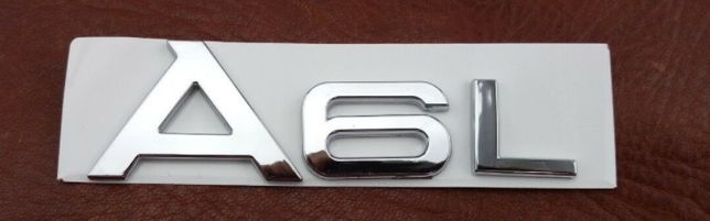 NOWY emblemat A6 | A6L przyklejany logo znaczek do AUDI metal