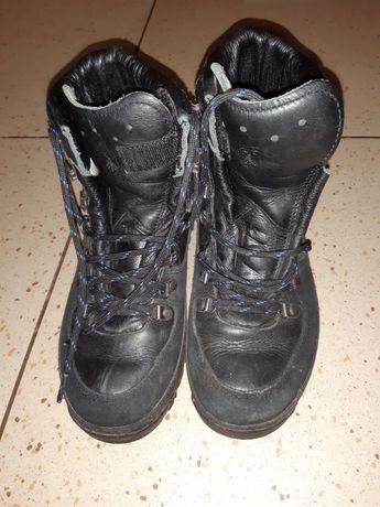 Кожаные ботинки р.38
