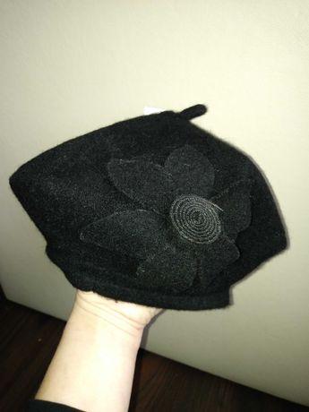 Czapka nowy beret damski kolor czarny