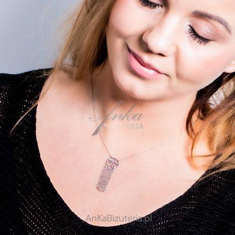 ankabizuteria.pl zestaw srebrnej niebieskiej biżuterii Srebrny naszyjn