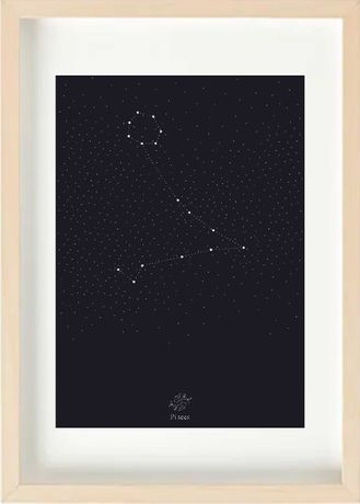 Pisces Ryby Konstelacja Znak zodiaku Plakat Autorski