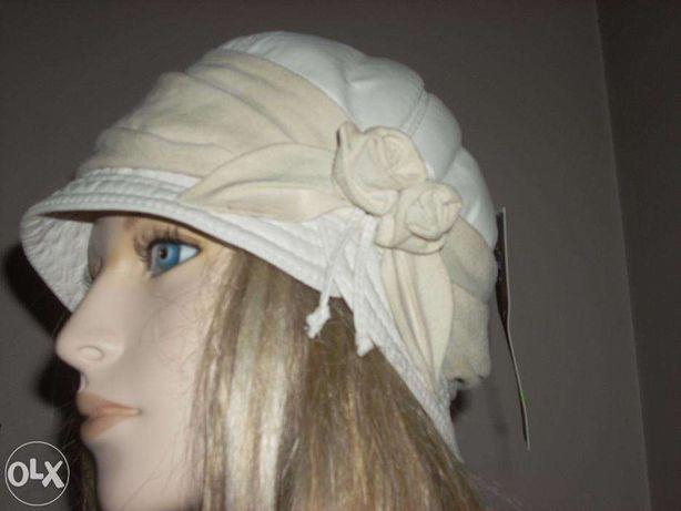 czapka Gena z naturalnej skóry,nowa