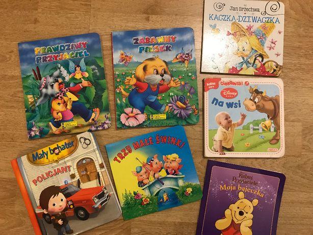 Książki książeczki dla dzieci 7szt