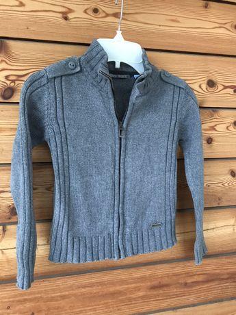 Super szary sweter 110 cm (5 lat) jak nowy śliczny