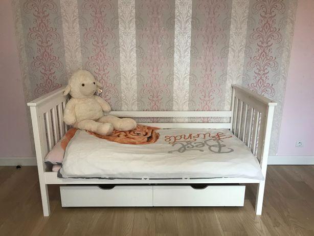 Łóżko dziecięce białe 80x160