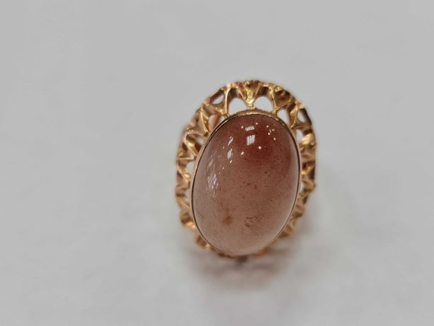 Wyjątkowy, wiekowy złoty pierścionek/ 585/ 7.79 gram/ R19