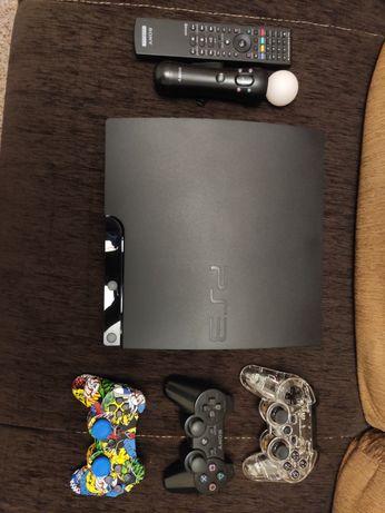PlayStation 3 Slim 320gb c/ vários extras