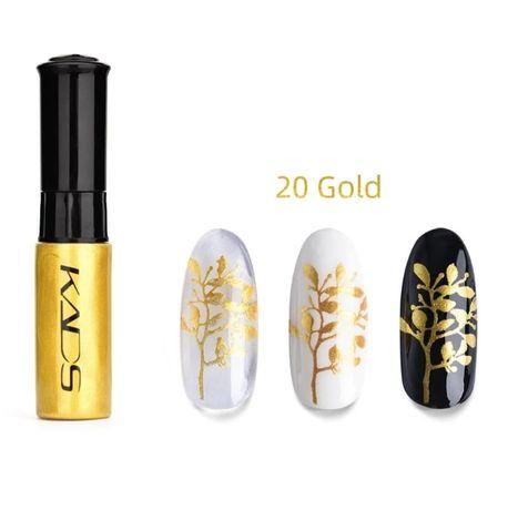 Lakiery do paznokci NOWE złote wysyłka GRATIS