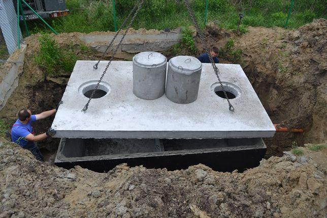 Szambo betonowe 10m3 KOMPLEKSOWO dowóz wykop montaż Bielsk Podlaski