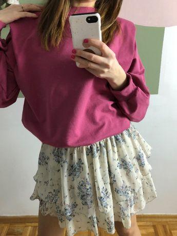 Spódniczka Julie krótka spódniczka z falbankami w kwiatki XS/S