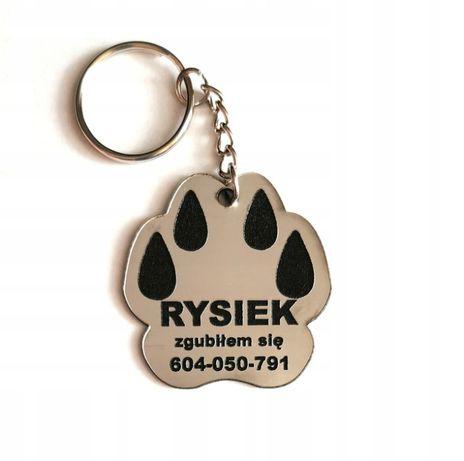 Adresówka dla psa/kota Identyfikator Grawer Tabliczka z imieniem psa