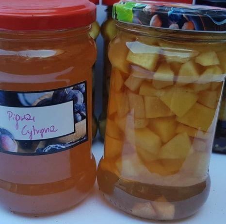 sok syrop malinowy imbirowy z pigwy dżem jagodowy buraki bez cukru