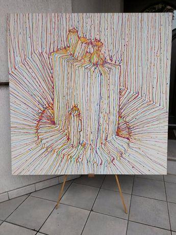 Obraz ręcznie malowany 125×125