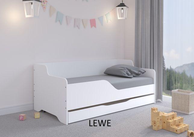 Łóżko dziecięce LILU 160x80 materac+ szuflada BIAŁA SOFA