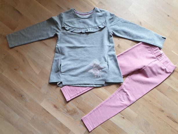 Śliczny komplet Wójcik bluzka, spodnie legginsy rozm. 116/122