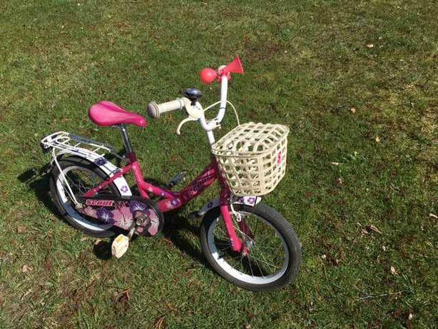 Rowerek dla dziewczynki, rozmiar kół 16 cali, dziecięcy