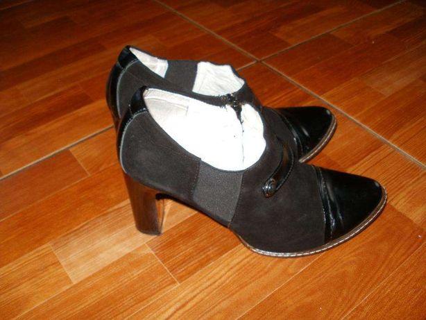 Шкіряні туфлі, черевички, ботильйони, ботинки 38 розмір