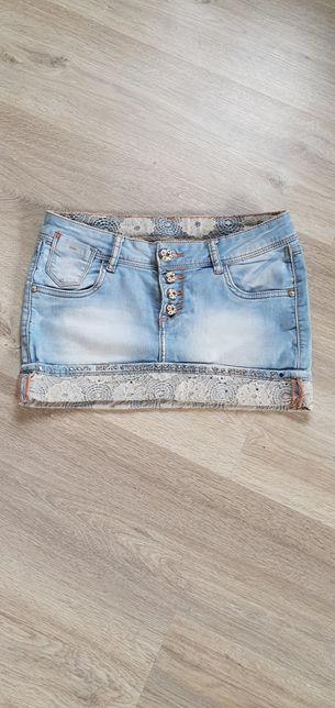Стильная джинсовая юбка Турция