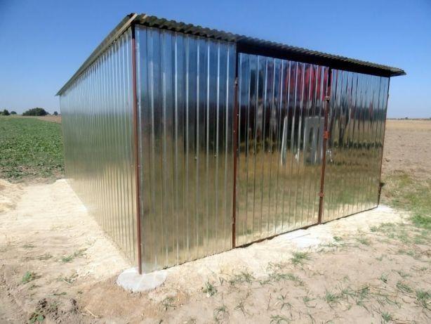 Garaż blaszany Blaszak na budowę 3x5 ocynk WZMOCNIONY Garaże blaszane Węgrów - image 1