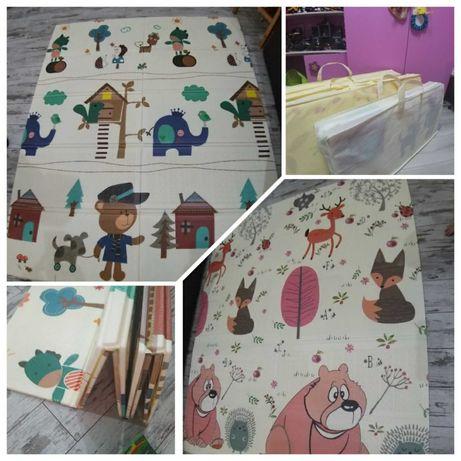 Детский термо коврик для дома, сада. Коврик для малышей в детскую беж